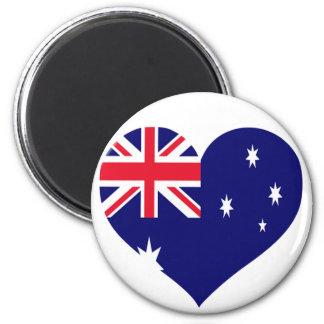 Australia Love 2 Inch Round Magnet