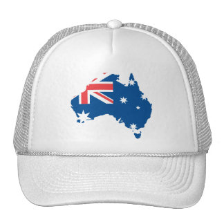 Australia map and flag - Hat