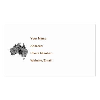 Australia Map Art Doodle Business Card