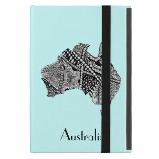 Australia Map Art Doodle iPad Mini Cases