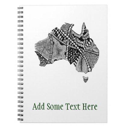 Australia Map Doodle Journals