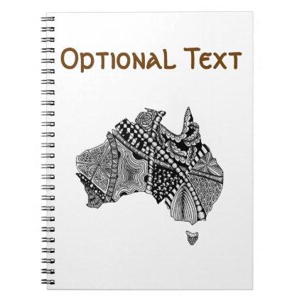 Australia Map Doodle Note Books