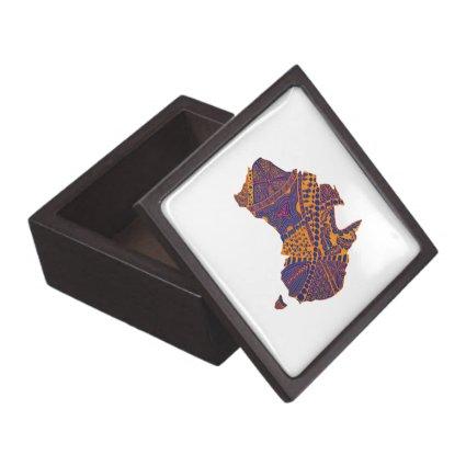 Australia Map Doodle Orange Purple Premium Trinket Box
