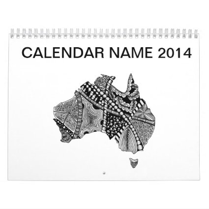 Australia Map Doodle Wall Calendars