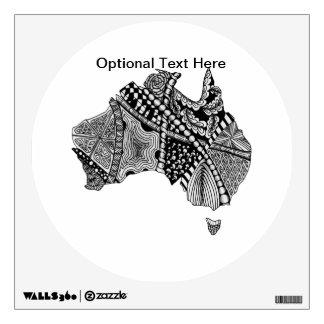 Australia Map Doodle Wall Sticker