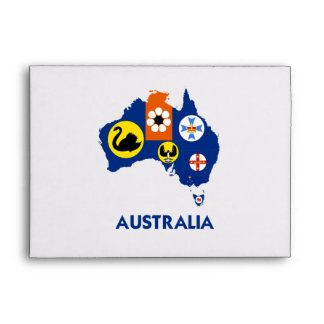 AUSTRALIA MAP ENVELOPES