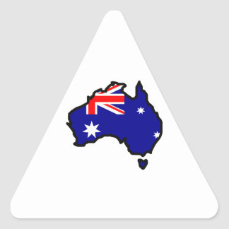 AUSTRALIA MAP FLAG TRIANGLE STICKER