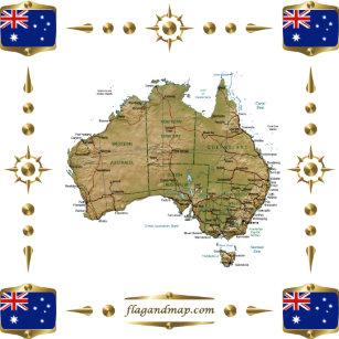 Australia Map And Flag.Australia Flag Map Gifts On Zazzle