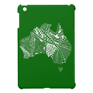 Australia Map Green and Gold Cover For The iPad Mini