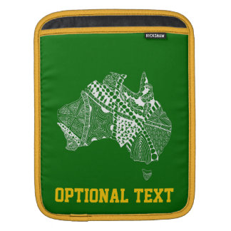 Australia Map Green and Gold iPad Sleeves