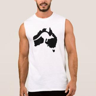 Australia map kangaroo sleeveless t-shirt