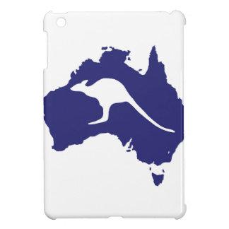 Australia Map With Kangaroo Silhouette iPad Mini Covers
