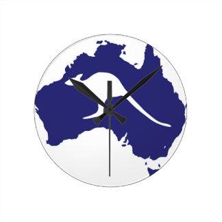Australia Map Wall Clocks Zazzle - Australia map kangaroo