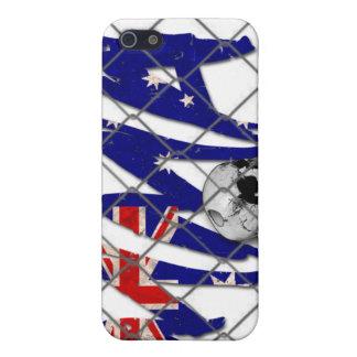 Australia MMA Skull White iPhone 4 Case