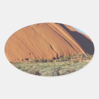 australia moutain rock oval sticker
