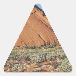 australia moutain rock triangle sticker