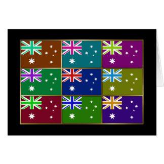 Australia Multihue señala la tarjeta de felicitaci