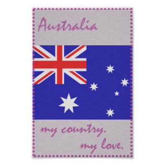 Australia My Country My Love Poster