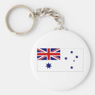 Australia Naval Ensign Basic Round Button Keychain