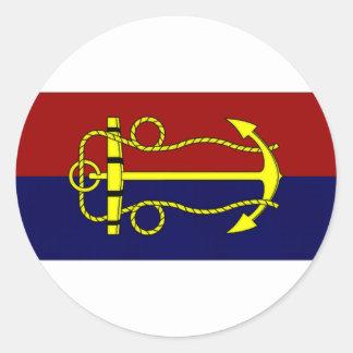 Australia Navy Board Flag Classic Round Sticker