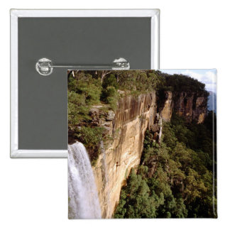 Australia, New South Wales, Fitzroy Falls. 2 Inch Square Button