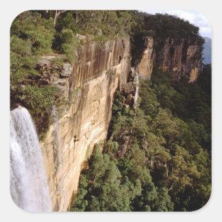 Australia, New South Wales, Fitzroy Falls. Square Sticker