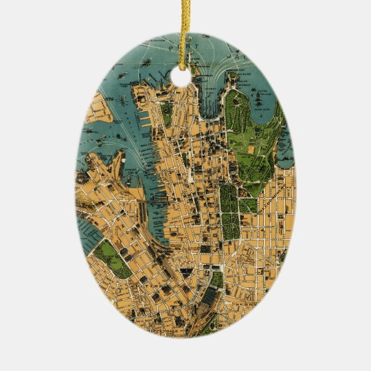 Australia New South Wales Sydney 1922 Ceramic Ornament