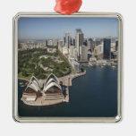 Australia, New South Wales, Sydney, Sydney 2 Square Metal Christmas Ornament