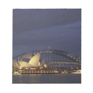 Australia, New South Wales, Sydney, Sydney Opera 3 Note Pad