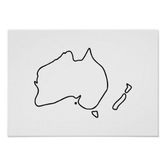 Australia New Zealand Downunder Outback Poster