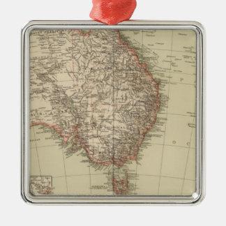 Australia, New Zealand Square Metal Christmas Ornament