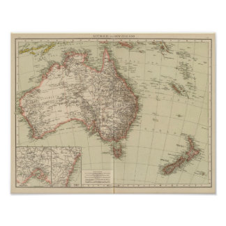 Australia, New Zealand Poster