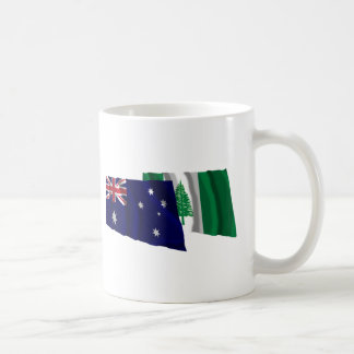 Australia & Norfolk Island Waving Flags Coffee Mug