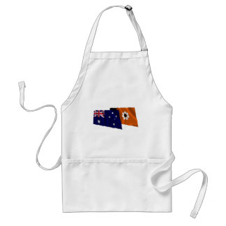 Australia & Northern Territory Waving Flags Adult Apron