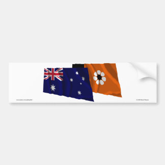 Australia & Northern Territory Waving Flags Bumper Sticker