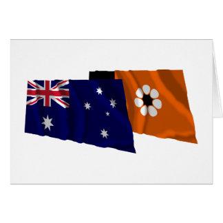 Australia & Northern Territory Waving Flags Card
