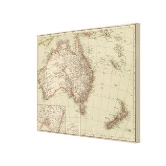 Australia, Nueva Zelanda Impresión En Lienzo