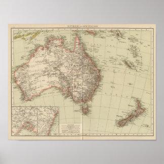 Australia, Nueva Zelanda Póster