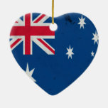 Australia-Oceania :: Ashmore and Cartier Islands Double-Sided Heart Ceramic Christmas Ornament