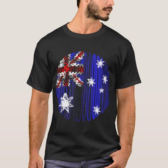 Australia on Black Tee Shirt