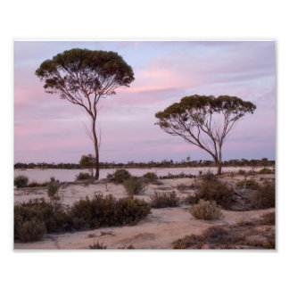 Australia Outback Pink Sunset Photo Print