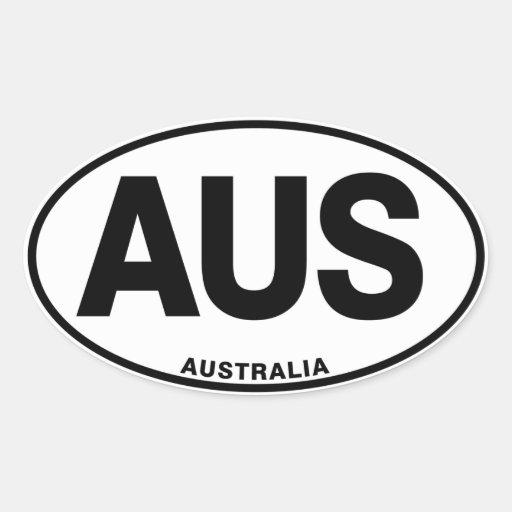 Australia Oval International Identity Letters Oval Sticker R C E Afa B D A B V Wz Byvr
