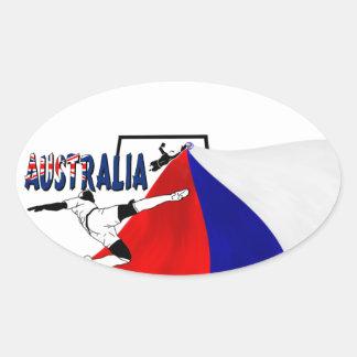Australia Oval Sticker