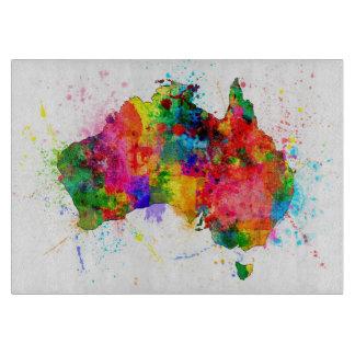 Australia Paint Splashes Map Cutting Board