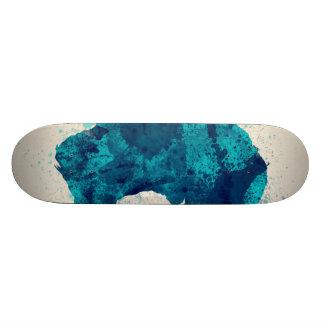 Australia Paint Splashes Map Skateboard Deck