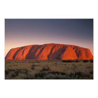Australia, parque nacional de Uluru. Uluru o Fotografía