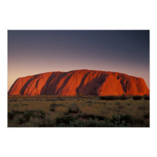 Australia, parque nacional de Uluru. Uluru o Póster