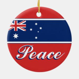 Australia Peace/Love Ornament
