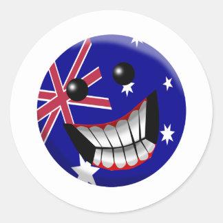 Australia Etiquetas Redondas