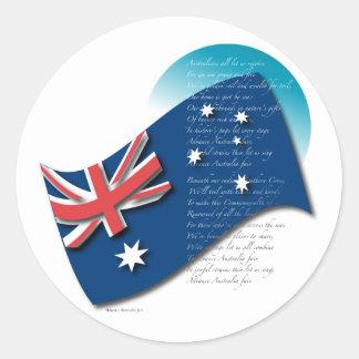 Australia Pegatina Redonda